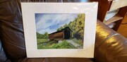 "Prints: 16"" x 20"" Oldest Covered Bridge In NY"